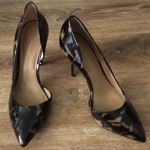 Ann Taylor D'Orsay Tortoise Shell Heels